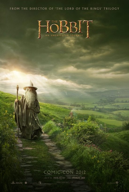 The Hobbit An Unexpected Journey Comic Con Poster